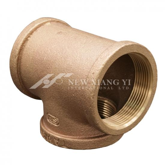 Brass female tee connector